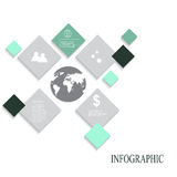 Modern vector abstract infographic elements. Modern abstract infographic elements.Vector illustration Royalty Free Stock Image