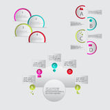 Modern vector abstract infographic elements. Modern vector abstract speech bubble infographic elements Royalty Free Stock Photos
