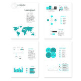 Modern vector abstract infographic elements. Modern vector abstract speech bubble infographic elements Stock Image