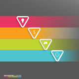 Modern vector abstract origami option infographic elements Royalty Free Stock Photography