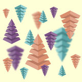 Modern vector abstract pyramid. With shadows on blurred background Stock Image