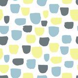 Modern vector abstract seamless geometric pattern with semicircles in scandinavian style. royalty free illustration