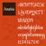 Modern Vector Alphabet. ABC Painted Letters. Modern Brushed Lettering. Painted Alphabet Royalty Free Stock Images
