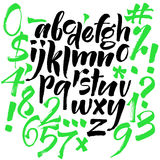 Modern Vector Alphabet. ABC Painted Letters. Modern Brushed Lettering. Painted Alphabet Stock Image