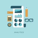 Modern vector analytics concept illustration Royalty Free Stock Photography