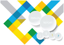Modern vector annual report cover design Stock Photography