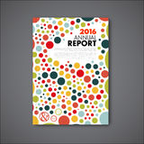 Modern Vector annual report design template Royalty Free Stock Photos