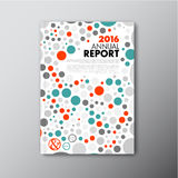 Modern Vector annual report design template Stock Images