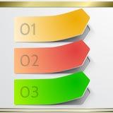 Modern vector arrow  sticker infographics elements Royalty Free Stock Photos