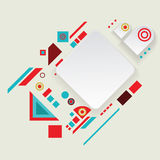 Modern vector aztec frame for material design Royalty Free Stock Photo