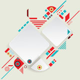 Modern vector aztec frame for material design Royalty Free Stock Images