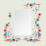 Modern vector aztec frame for material design Royalty Free Stock Photography
