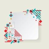 Modern vector aztec frame for material design Stock Photo