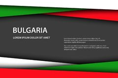 Modern vector background with Bulgarian colors and grey free space for your text, overlayed sheets of paper stock photo