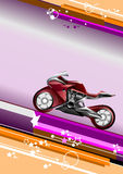 Modern vector background with motorcycle image Stock Photography