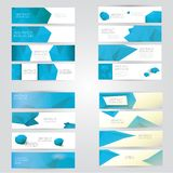 Modern vector banners with polygonal background Stock Photos
