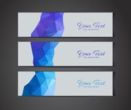 Modern vector banners Stock Images
