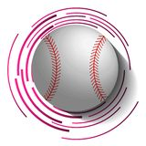 Abstract baseball image with ball in 3d effect. royalty free illustration