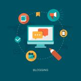 Modern vector blogging concept illustration Royalty Free Stock Photos