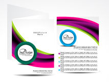 Modern vector brochure designs Royalty Free Stock Photos