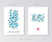 Modern vector brochure mosaic design Royalty Free Stock Images