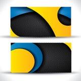 Modern vector business card - blue, orange Royalty Free Stock Photos