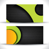 Modern vector business card - green, orange, black Stock Photography