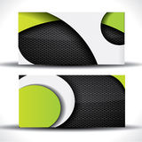 Modern vector business card with metal pattern Royalty Free Stock Photos