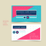 Modern vector business card set. Template design Stock Photography