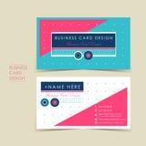 Modern vector business card set Stock Photography