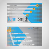Modern vector business card standart 90 x 50 mm Royalty Free Stock Images