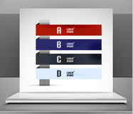 Modern vector business stripes infographic design Royalty Free Stock Image