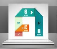 Modern vector business stripes infographic design Stock Image