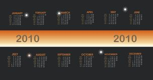 Modern Vector calendar.2010 Royalty Free Stock Image