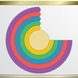 Modern vector circle diagram infographics elements Stock Images