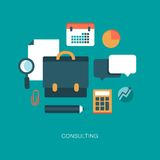 Modern vector consulting concept illustration Royalty Free Stock Photography