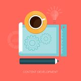 Modern vector content development illustration Stock Photography