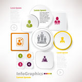 Modern vector elements for infographics with paper Royalty Free Stock Image