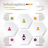 Modern vector elements for infographics with rhomb Royalty Free Stock Photo