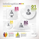 Modern vector elements for infographics with scraps newspaper.  Royalty Free Stock Photos