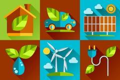 Modern vector flat design conceptual ecological Stock Photography