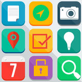 Modern vector  flat icons Royalty Free Stock Photography