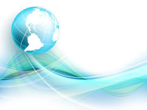 Modern vector frame with globe. Eps10 Royalty Free Stock Image