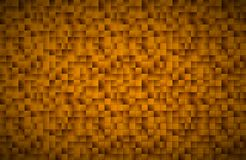 Modern vector golden mosaic pattern, gold squares stock illustration