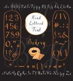 Modern vector hand written English alphabet Royalty Free Stock Photo
