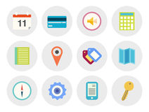 Modern vector icons set Stock Image