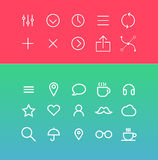 Modern vector Icons set in flat style Royalty Free Stock Photography