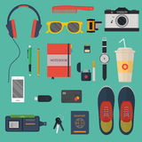 Modern vector illustration concept of every day carry in flat style Royalty Free Stock Photos
