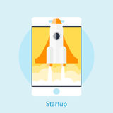 Modern vector illustration concept for new business project star Royalty Free Stock Images