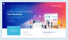 Effective website template design. Modern vector illustration concepts of web page design for website and mobile website development. Easy to edit and customize royalty free illustration